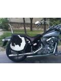 Borjú bőrrel díszített motoros táska